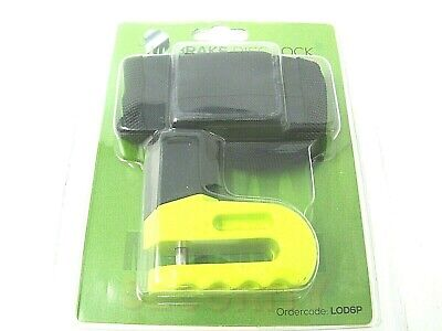 Mammoth 6mm Disc Lock Yellow Scooter Motorcycle C/w Pouch Motorbike Disc Lock
