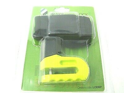 Mammoth Motorcycle Scooter Yellow Disc Lock 6Mm Pin  Free Reminder Cable