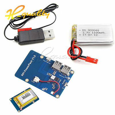 Lithium Battery PowerPack Expansion Board with Dual USB Output for Raspberry Pi3