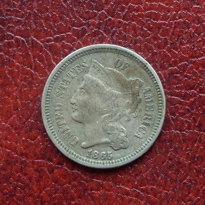 USA 1865 nickel 3 cents