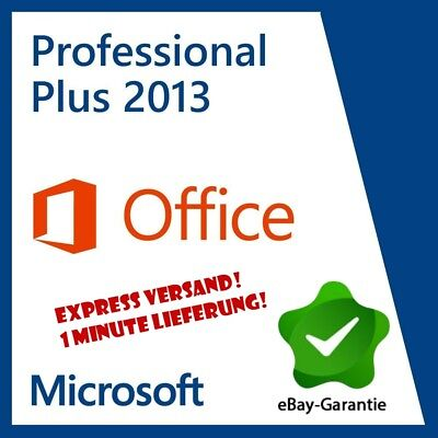 Microsoft Office 2013 Pro Plus • Professional Plus • PRO VOLLVERSION • Schnelle!