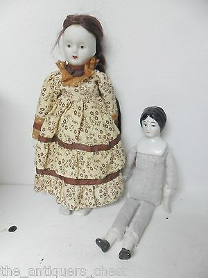 Antique Dolly Madison Style Head Porcelain Bisque Vintage Doll Cloth Body[*zs]