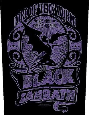 Black Sabbath Lord Of This World large sew-on cloth backpatch (rz)