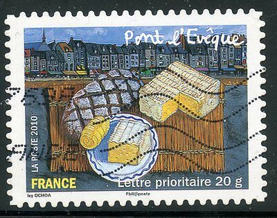 Timbre France Autoadhesif Oblitere N° 450 / Les Saveurs / Fromage Pont L'eveque