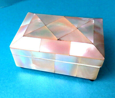Antique Beautiful Pearl Sewing Needle Box.