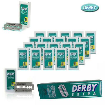 Derby Extra Super Stainless Ceramic Platinum Chomium Double Edge Razor Blades