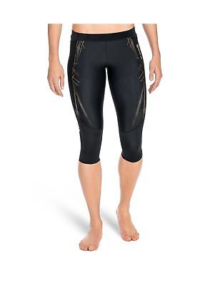 SKINS Women's A400Compression 3/4 Capri Tights Black/Gold Small