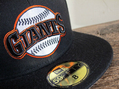 RARE San Francisco Giants New Era 59FIFTY Fitted Cap sz 8 hat vtg will clark era