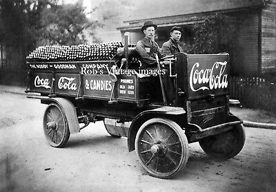 Coca Cola Soda  Advertising Delivery Rapid Truck Photo Vintage1909 era photo
