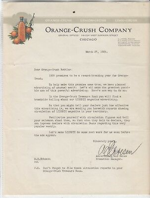 Orange-Crush Company General Offices Chicago  Letterhead Dated   March 27, 1928