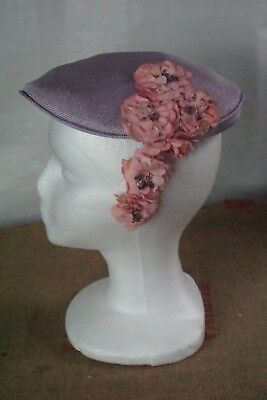 Vintage Lady`s Hat Lavender and Flowers