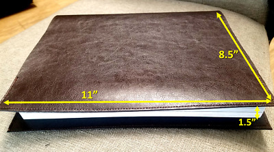 Book Cover TEXTILE FAUX LEATHER  8.5×1.5×11