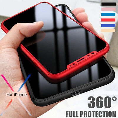 Shockproof Full Body 360°Protective Hard Slim Case Cover For Apple iPhone 10 X 6