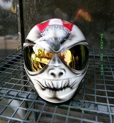 Alien Custom Airbrushed Full Face Motorcycle Helmet 319 00 Picclick
