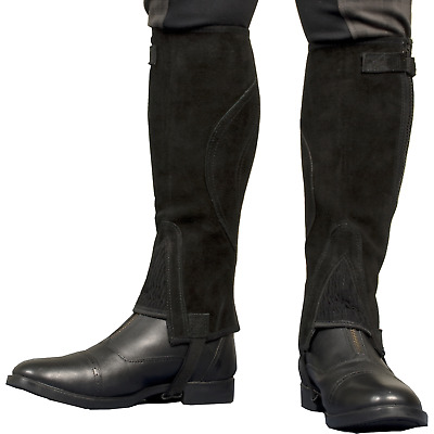 TBK Adults Suede Half Chaps - CLEARANCE - WAS £28