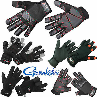GAMAKATSU 3/5 FINGER, POWER THERMAL, FLEECE o. NEOPREN ANGELHANDSCHUHE -WÄHLBAR