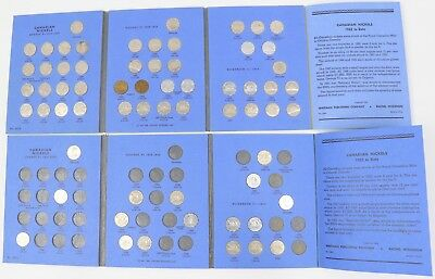 Lot of 2 Canada Nickels 1922-1960 Whitman Book Key 1925 w/63-Coins Five Cents 5C