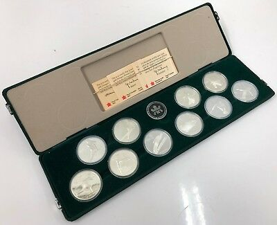 1988 Canada $20 Olympic Proof Sterling Silver 10-Coin Set w/ COA Canadian RCM