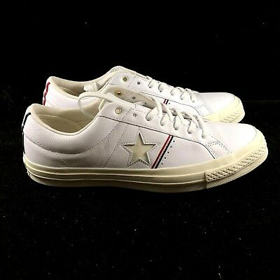 Converse One Star OX White Cream Red Low Top Sneaker Shoe 159694C NEW