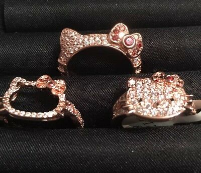 Three Hello Kitty Rings Size 8