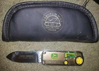 NEW John Deere 1957 Model 420 HC Tractor Pocket Knife Franklin Mint