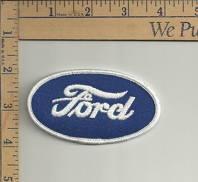 1 nos Oval Ford patch see scan approx 2 x 3-1/2 inches