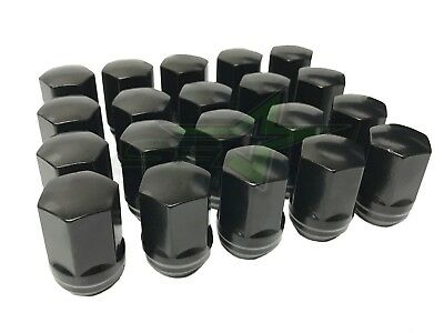24 GMC Sierra Oem Factory Black Style Lug Nuts 14x1.5 22mm Hex OEM Perfect Fit!