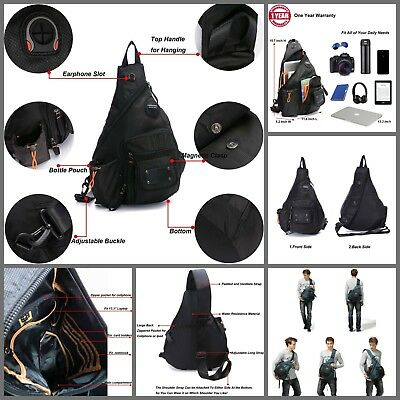 Unisex Anti Theft Chest Pack One Shoulder Crossbody Backpack Book RFID Sling Bag