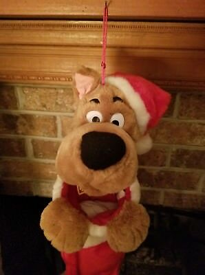 """SCOOBY DOO Musical Holiday Christmas Stocking 20"""" Mouth Moves Slightly"""