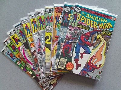 the Amazing Spider-Man Vol.1 (1963) Lot of 11 comic books - Great Condition!!