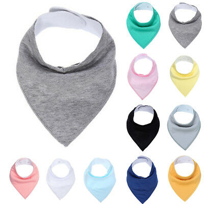 Bandana Cloths & Bibs Triangle Infant Baby Cotton Soft Solid Burp Feeding Child