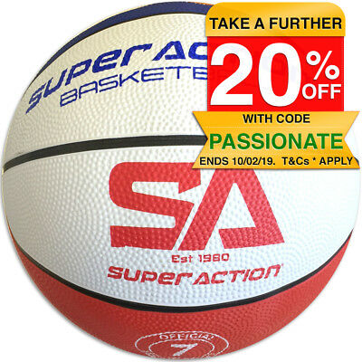 Super Action Size 7 Basketball Official Ball Sport Training Indoor/Outdoor Game