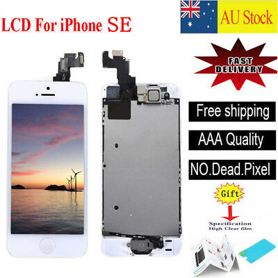 For iPhone SE Touch Screen LCD Display Digitizer Replacement White Button Apple