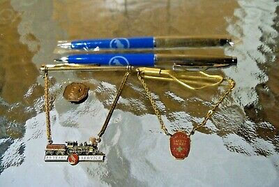 (5) Great Northern Railroad Crooks 25 Year Service Pin Button Badge Mech Pencil