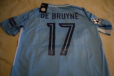 quality design 59add 38340 KEVIN DE BRUYNE Large Manchester City 17-18 Home Jersey.