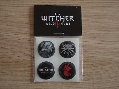 Set 4 stickers The Witcher 3 Wild Hund VERY RARE Gamescom 2014