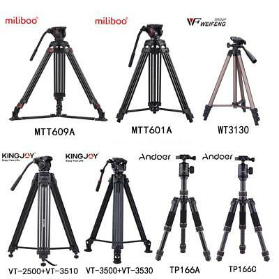 Professional Aluminum Heavy Duty Video Camera Tripod Video Light Stand Ball Head