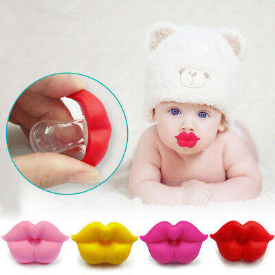 Cute food grade Silicone Kids Infant Baby Pacifier Nipple Funny Big Lip Soother
