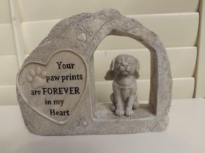 MEMORIAL PLAQUE for DOG NEW POLY- RESIN STONE EFFECT with words