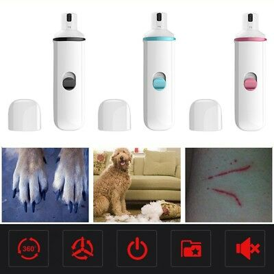 Electric File Safe Pet Dog Cat Nail Claw Grooming Paws Grinder Trimmer Clipper 1