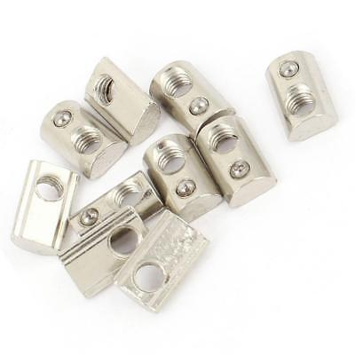 Roll-in T Slot Nut Elasticity Fasten Nuts M4 M6 M8 for 20/30/40/45 Series
