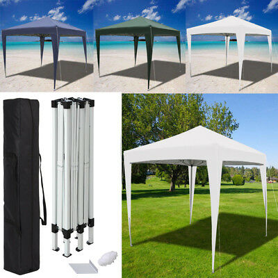 3 x 3m HeavyDuty Waterproof Garden Pop Up Gazebo Frame MARKET STALL Marquee Fold
