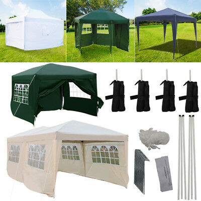 2x2m/2.5x2.5m/3x3m/3x6m Waterproof Pop Up Gazebo HeavyDuty Camping Event Shelter