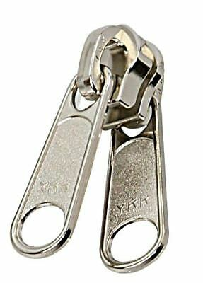 YKK x10 pcs Single Slider nickel plated for Spiral Zipper