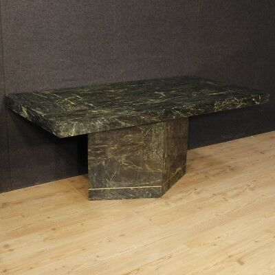 Dining table furniture Muller of Mexico design vintage marble wood living room