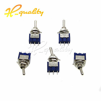 2/5/10pcs MTS-102/103 Mini 3 PIN BLUE Toggle Switch SPDT On-On/On-Off-On