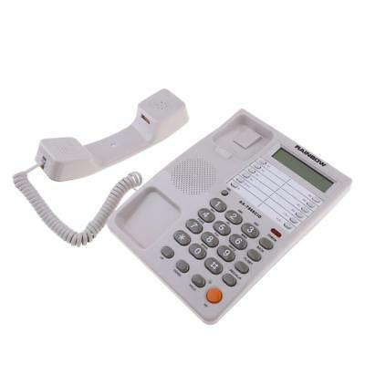Corded Telephone with Speaker, Time Date Display and Caller ID, White