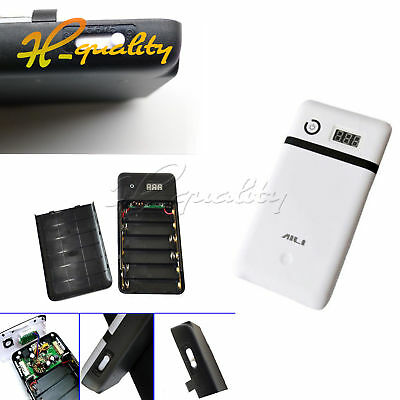 3.3A Mobile power Bank Six sections 18650 Battery Charger 19V Laptop Black/White