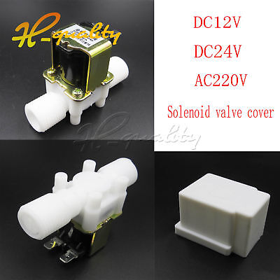 "1/2"" N/C Magnetic Electric Solenoid Valve Water Air Inlet Flow Switch 12/24/220V"