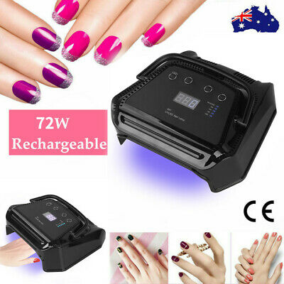 Pro Black SUN5 LED 48W UV Nail Lamp Light Gel Polish Nail Manicure Art Kit AU